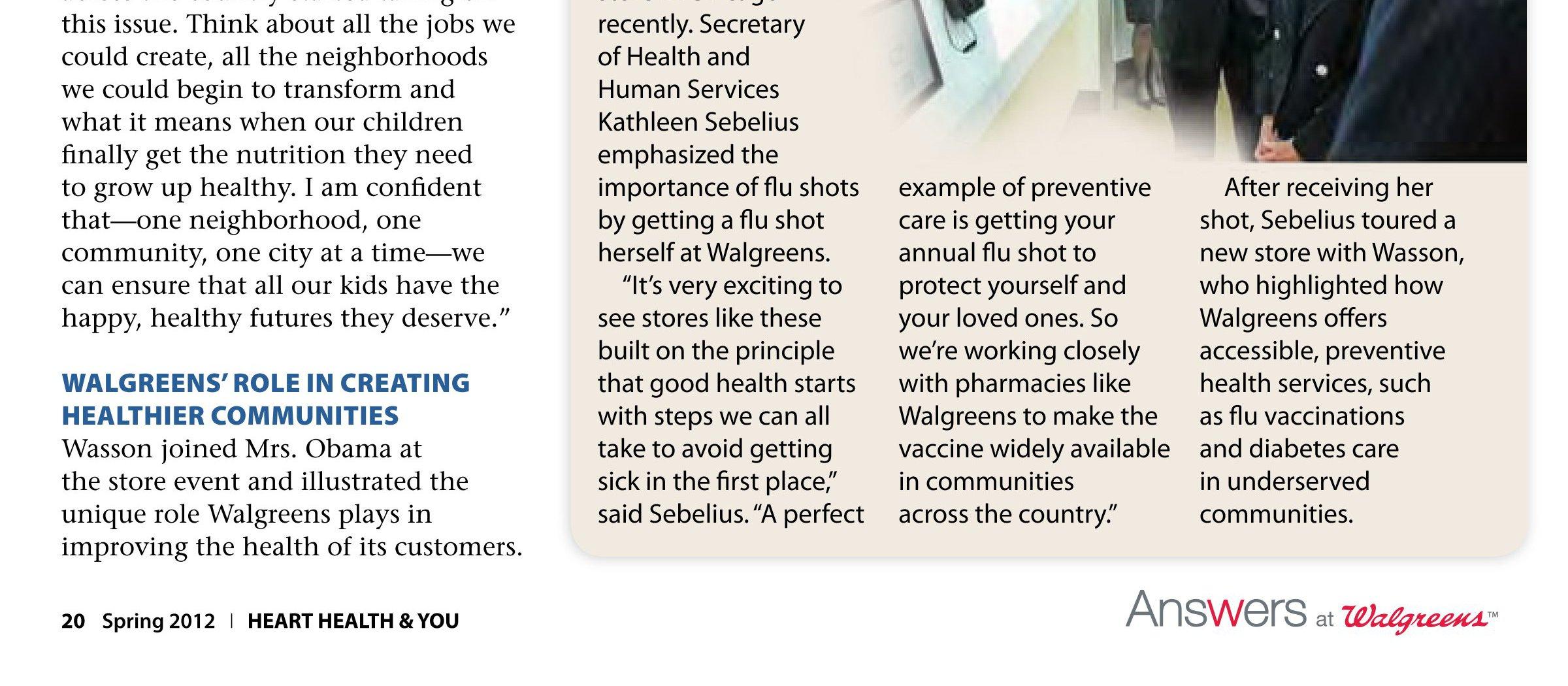 Walgreens Diabetes & You Spring 2012